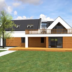 Dom zagrodowy w Rakowni od Fiord-Architekci Nowoczesny Drewno O efekcie drewna