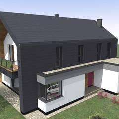 Dom w Dąbrówce: styl , w kategorii Dom jednorodzinny zaprojektowany przez Fiord-Architekci