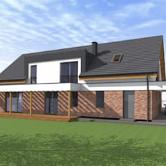 Dom w Drwęsie: styl , w kategorii Dom jednorodzinny zaprojektowany przez Fiord-Architekci