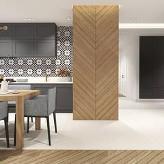Projekt mieszkania, Gdańsk: styl , w kategorii Jadalnia zaprojektowany przez IN studio projektowania wnętrz