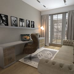 50GR Mimarlık – Bahçeşehir_Çınar 6 villaları: modern tarz Multimedya Odası