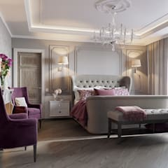 Частный дом в Пушкине: Спальни в . Автор – EJ Studio