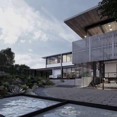 Fachada Posterior: Casas unifamiliares de estilo  por Paola Calzada Arquitectos