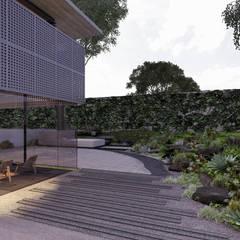 حديقة صخرية تنفيذ Paola Calzada Arquitectos