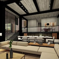 Vista de interiores: Salas de estilo  por Paola Calzada Arquitectos