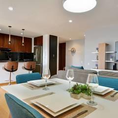 Gauss, disfruta cada espacio: Comedores de estilo moderno por Natalia Mesa design studio