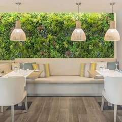 Dining room by Wonder Wall - Jardins Verticais e Plantas Artificiais,