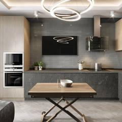 2-х комнатная квартира в центре Киева: Кухни в . Автор – EJ Studio
