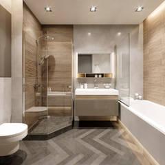 2-х комнатная квартира в центре Киева: Ванные комнаты в . Автор – EJ Studio