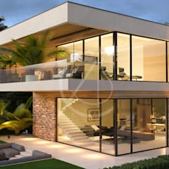 Amazing Modern Vacation House:  Detached home by Comelite Architecture, Structure and Interior Design , Modern