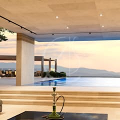 Amazing Modern Vacation House:  Pool by Comelite Architecture, Structure and Interior Design