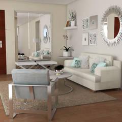 Diseño interior Sala : Salas / recibidores de estilo minimalista por Mauriola Arquitectos