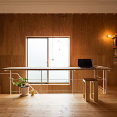 on house: Takeru Shoji Architects.Co.,Ltdが手掛けたフローリングです。