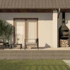 Strefa wypoczynkowa w ogrodzie - Taras: styl , w kategorii Ogród zaprojektowany przez STTYK Pracownia Architektury Wnętrz i Krajobrazu