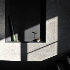 建築設計+室內設計 白居29 HW House:  牆面 by 黃耀德建築師事務所  Adermark Design Studio