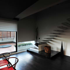 Projekty,  Schody zaprojektowane przez 黃耀德建築師事務所  Adermark Design Studio