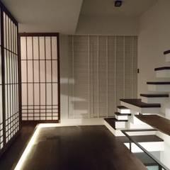 侘寂:  樓梯 by 黃耀德建築師事務所  Adermark Design Studio