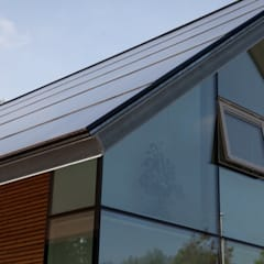 Integrated solar roof villa:  Schuin dak door AERspire