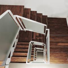 室內設計 成功 WL House:  樓梯 by 黃耀德建築師事務所  Adermark Design Studio