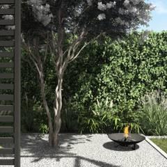 Projekt małego ogrodu w stylu nowoczesnym, Gdynia Wzgórze Bernadowo: styl , w kategorii Ogród zaprojektowany przez STTYK Pracownia Architektury Wnętrz i Krajobrazu