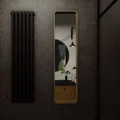 Projekt wnętrza mieszkania, Gdynia Centrum: styl , w kategorii Łazienka zaprojektowany przez STTYK Pracownia Architektury Wnętrz i Krajobrazu