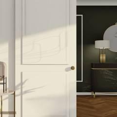 Projekt wnętrza mieszkania, Gdynia Centrum: styl , w kategorii Salon zaprojektowany przez STTYK Pracownia Architektury Wnętrz i Krajobrazu