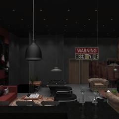 Pub Residencial 2: Bares e clubes  por Designer Paula Daiane dos Santhos
