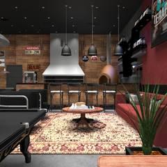 Pub Residencial 3: Bares e clubes  por Designer Paula Daiane dos Santhos