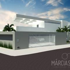Casa C+R: Casas familiares  por MÁRCIA SENNA ARQUITETURA E PAISAGISMO
