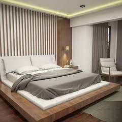 IN•AR Design / İç Mimarlık – MELDA - SERDAR YILMAZ / VİLLA PROJESİ:  tarz Yatak Odası