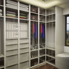 IN•AR Design / İç Mimarlık – MELDA - SERDAR YILMAZ / VİLLA PROJESİ: modern tarz Giyinme Odası