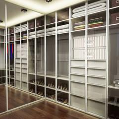 IN•AR Design / İç Mimarlık – MELDA - SERDAR YILMAZ / VİLLA PROJESİ:  tarz Giyinme Odası