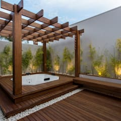 Steam Bath by Arquiteta Carol Algodoal Arquitetura e Interiores, Modern Wood Wood effect