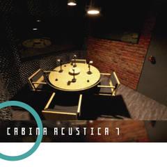 Multimundo Radio: Estudios y oficinas de estilo industrial por HRG Diseño & Taller