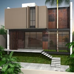 Conjunto residencial de estilo  por Harmônica Arquitetura