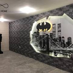 Proyecto Batber shop: Salas multimedia de estilo  por Creative Home by Irwin Casas & Sandra Garcia