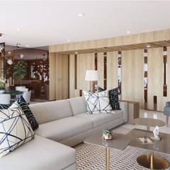 DEPARTAMENTO CANCUN: Salas de estilo  por CUARTO BLANCO