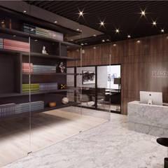 OFICINA DECIMA: Oficinas y tiendas de estilo  por CUARTO BLANCO