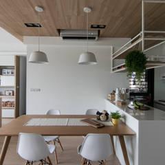 اتاق غذاخوری توسط拓雅室內裝修有限公司, اسکاندیناویایی