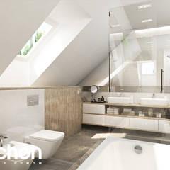 Dom w śliwach 2 : styl , w kategorii Łazienka zaprojektowany przez ARCHON+ PROJEKTY DOMÓW