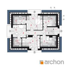 Dom w śliwach 2 : styl , w kategorii Domy zaprojektowany przez ARCHON+ PROJEKTY DOMÓW