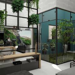 SALA DE ESTAR : Salas de estar ecléticas por THACO. Arquitetura e Ambientes