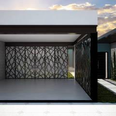 GARAGEM: Casas ecléticas por THACO. Arquitetura e Ambientes