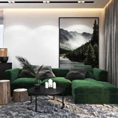 Mieszkanie z zielonym akcentem: styl , w kategorii Salon zaprojektowany przez Ambience. Interior Design