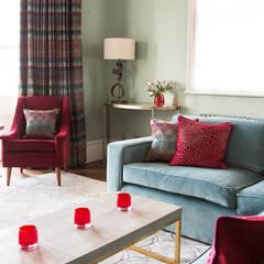 Town House Brighton:  Living room by Pfeiffer Design Ltd