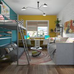 Habitación infantil Fusion : Dormitorios infantiles de estilo  de Glancing Eye