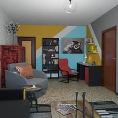 Decoración atrevida estilo Pop Art : Estudios y despachos de estilo  de Glancing Eye - Diseños 3D