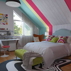 Pop Art /Fusion /Eclectic decoration Eclectic style bedroom by Glancing EYE - Asesoramiento y decoración en diseños 3D Eclectic