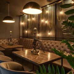 Уютный зал кальянной в индустриальном стиле: Бары и клубы в . Автор – Art-i-Chok