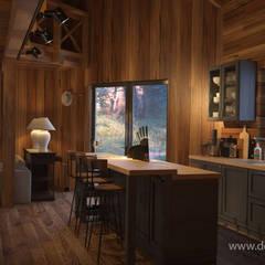 Интерьер дома в стиле шале: Кухни в . Автор – студия Design3F
